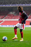 3rd October 2020; City Ground, Nottinghamshire, Midlands, England; English Football League Championship Football, Nottingham Forest versus Bristol City; Alex Mighten of Nottingham Forest warms-up prior to the match