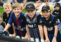 20th March 2021; Dunedin, New Zealand;  Young cricket fans during the New Zealand Black Caps v Bangladesh International one day cricket match. University Oval, Dunedin.