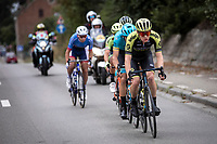 Christopher Juul Jensen (DEN/Mitchelton Scott) leading the chasing group. <br /> <br /> 99th Brussels Cycling Classic 2019<br /> One Day Race: Brussels > Brussels 189.4km<br /> <br /> ©kramon