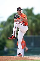 Baltimore Orioles pitcher Cody Sedlock (83) during an Instructional League game against the Tampa Bay Rays on September 19, 2016 at Ed Smith Stadium in Sarasota, Florida.  (Mike Janes/Four Seam Images)