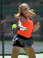 Sofia Shing. 2019 Wellington Tennis Open at Renouf Centre in Wellington, New Zealand on Thursday, 19 December 2019. Photo: Dave Lintott / lintottphoto.co.nz