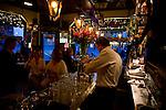 A bartender serves beer at the Cafe Heuvel in Amsterdam.