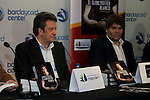"Ex bastekball player Carmelo Cabrera and the writter of the book Jose Luis Hernandez Torres during the presentation of the book ""Carmelo Cabrera, El globertrotter blanco"" at Barclaycard Center in Madrid, March 01, 2016<br /> (ALTERPHOTOS/BorjaB.Hojas"