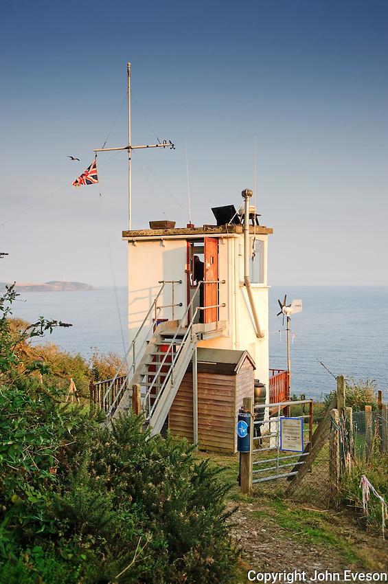 Charlestown coastwatch point,  St Austell Bay, Cornwall....Copyright..John Eveson, Dinkling Green Farm, Whitewell, Clitheroe, Lancashire. BB7 3BN.01995 61280. 07973 482705.j.r.eveson@btinternet.com.www.johneveson.com