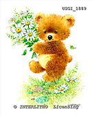 GIORDANO, CUTE ANIMALS, LUSTIGE TIERE, ANIMALITOS DIVERTIDOS, Teddies, paintings+++++,USGI1889,#AC# teddy bears