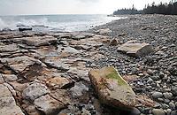Incoming Tide & Cobblestones at Seawall #A101