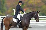 Rachel Jurgens (USA)  aboard Ziggy competing in dressage during day one  Fair Hill International in Fair Hill, MD  on 10/14/11.  (Ryan Lasek / Eclipse Sportwire)