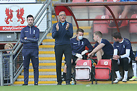 Oldham Athletic manager Keith Curle during Leyton Orient vs Oldham Athletic, Sky Bet EFL League 2 Football at The Breyer Group Stadium on 11th September 2021