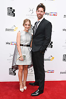 Joanne Froggatt and husband James Cannon<br /> at the South Bank Sky Arts Awards 2017, Savoy Hotel, London. <br /> <br /> <br /> ©Ash Knotek  D3288  09/07/2017