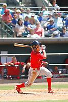 Lakewood BlueClaws shortstop Jose Antequera (3) at bat during a game against the Charleston RiverDogs on May 3, 2017 at Joseph P. Riley Ballpark in Charleston, South Carolina. Lakewood defeated Charleston 10-6. (Robert Gurganus/Four Seam Images)