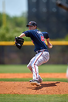 Atlanta Braves pitcher AJ Puckett (49) during a Minor League Spring Training game against the Tampa Bay Rays on April 25, 2021 at Charlotte Sports Park in Port Charlotte, Fla.  (Mike Janes/Four Seam Images)