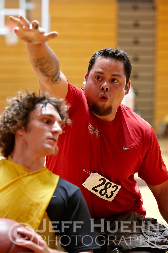 SAN ANTONIO , TX - SEPTEMBER 15, 2009: Day 1 of the United States Olympic Committee Paralympic Military Sports Camp at Fort Sam Houston's Jimmy Brought Fitness Center. (Photo by Jeff Huehn)