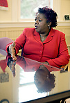 TORRINGTON, CT-122017JS11---Denise L. Clemons, Superintendent of Torrington Public Schools, talks about her first year running the district and the goals and challenges that lay ahead. <br /> Jim Shannon Republican-American