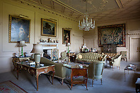 A drawing room. A painting of Charlotte, Countess Fitzwilliam (formerly Charlotte Ponsonby, wife of the fourth Earl, William Wentworth Fitzwilliam hangs to the right of the fireplace