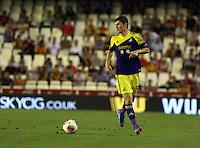 Valencia, Spain. Thursday 19 September 2013<br /> Pictured: Ben Davies of Swansea<br /> Re: UEFA Europa League game against Valencia C.F v Swansea City FC, at the Estadio Mestalla, Spain,