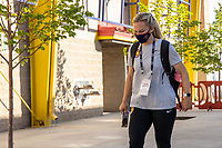 HERRIMAN, UT - JULY 8: Utah Royals FCArrive at the field during a game between OL Reign and Utah Royals FC at Zions Bank Stadium on July 8, 2020 in Herriman, Utah.