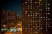 April 18, 2020<br /> New York, New York<br /> Lower East side<br /> <br /> Public housing on a Saturday night on the lower east side during the time of the cononavirus pandemic.
