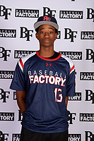 Trae Cunningham (13) of Jeannette High School in Jeannette, Pennsylvania during the Baseball Factory All-America Pre-Season Tournament, powered by Under Armour, on January 12, 2018 at Sloan Park Complex in Mesa, Arizona.  (Mike Janes/Four Seam Images)