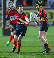 5th October 2018 | Ulster vs Connacht<br /> <br /> Halftime mini-rugby during the PRO14 clash between Ulster and Connacht at Kingspan Stadium, Ravenhill Park, Belfast, Northern Ireland. Photo by John Dickson / DICKSONDIGITAL