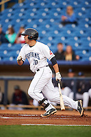 Lake County Captains outfielder David Armendariz (30) at bat during a game against the Fort Wayne TinCaps on May 20, 2015 at Classic Park in Eastlake, Ohio.  Lake County defeated Fort Wayne 4-3.  (Mike Janes/Four Seam Images)