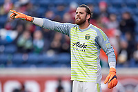 Bridgeview, IL - Saturday March 31, 2018: The Chicago Fire played the Portland Timbers at Toyota Park in a Major League Soccer (MLS) match.  The Chicago Fire played to a 2-2 draw with the Portland Timbers.