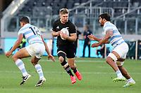 14th November 2020, Sydney, Australia;  Jack Goodhue in possession. Tri Nations rugby union test match,  New Zealand All Blacks versus Argentina Pumas. Bankwest Stadium, Sydney, Australia.