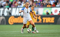 Seattle, WA - Thursday July 27, 2017: Lindsey Horan during a 2017 Tournament of Nations match between the women's national teams of the United States (USA) and Australia (AUS) at CenturyLink Field.