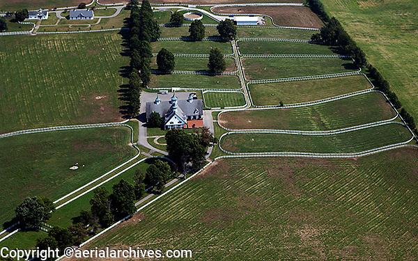 aerial photograph of the Calumet horse farm Lexington, Kentucky