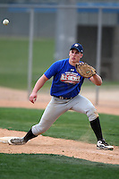 January 17, 2010:  Jacob Wark (Tualatin, OR) of the Baseball Factory Great Lakes Team during the 2010 Under Armour Pre-Season All-America Tournament at Kino Sports Complex in Tucson, AZ.  Photo By Mike Janes/Four Seam Images