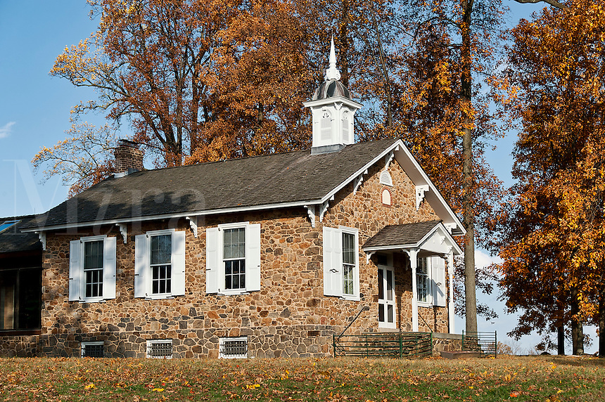 Traditional one room schoolhouse, Chester County, Pennsylvania, USA