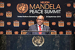 Opening Plenary Meeting of the Nelson Mandela Peace Summit<br /> <br /> His Excellency Julius Maada BIOPresident of the Republic of Sierra Leone   ?????? Please chech