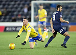Kilmarnock v St Johnstone…..04.12.19   Rugby Park   SPFL<br />Michael O'Halloran is fouled by Gary Dicker<br />Picture by Graeme Hart.<br />Copyright Perthshire Picture Agency<br />Tel: 01738 623350  Mobile: 07990 594431