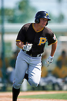 Pittsburgh Pirates Casey Hughston (19) during an Instructional League Intrasquad Black & Gold game on September 20, 2016 at Pirate City in Bradenton, Florida.  (Mike Janes/Four Seam Images)