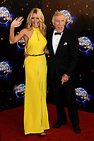 Tess Daly and Bruce Forsyth  dies at 89 retro set - <br /> arrives for the Stictly Come Dancing 2011 launch at BBC TV Centre, London<br /> <br /> ©Ash Knotek  D2296 07/09/2011