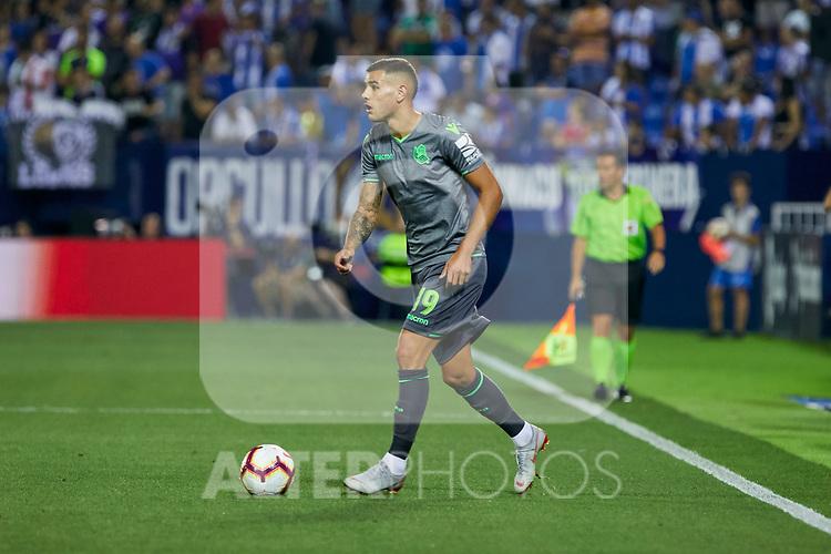 Real Sociedad's Theo Hernandez during La Liga match. August 24, 2018. (ALTERPHOTOS/A. Perez Meca)