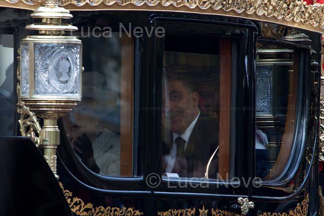 The Queen & the Turkish President - 2011<br /> <br /> London, 22/11/2011. State Visit in the United Kingdom for the President of the Republic of Turkey   Abdullah Gül and his wife Hayrünnisa Özyurt, as guests of Her Majesty the Queen. A limousine carries Her Majesty the Queen and Prince Phillip down the mall to meet their Turkish guests at Horse Parade. Later, the guests are escorted in Royal carriages up the mall to Buckingham Palace.