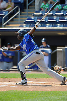 Aberdeen Ironbirds outfielder Roderick Bernadina (4) during game against the Staten Island Yankees at Richmond County Bank Ballpark at St.George on July 18, 2012 in Staten Island, NY.  Staten Island defeated Aberdeen 3-2.  Tomasso DeRosa/Four Seam Images