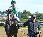 Hunter O'Riley (no. 5), ridden by Florent Geroux and trained by James Toner, wins the 59th running of the grade 2 Bowling Green Handicap for four year olds and upward on July 29, 2017 at Saratoga Race Course in Saratoga Springs, New York. (Bob Mayberger/Eclipse Sportswire)