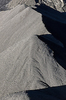 Stock pile of raw coal, Cleveland, Ohio, USA.