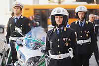 - Milan, urban policemen on motorcycle ....- Milano, vigili urbani motociclisti