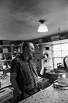 Shop owner a general store near Lerwick Shetland. 1979. 1970s UK