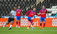 31st October 2020; Liberty Stadium, Swansea, Glamorgan, Wales; English Football League Championship Football, Swansea City versus Blackburn Rovers; Lewis Holtby of Blackburn Rovers controls the ball while under pressure from Andre Ayew of Swansea City