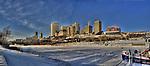 Downtown Edmonton as seen from across the North Saskatchewan River. Original file size 59 MB.
