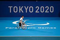 28th August 2021; Tokyo, Japan; Gordon REID (GBR), Wheelchair Tennis : Men's singles 2nd round match between Leon ELS 0-2 Gordon REID at the Ariake Tennis Park during Tokyo 2020 Paralympic Games in Tokyo, Japan.