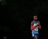 5th June 2021; Birmingham University Athletics Track, Birmingham, Midlands, England; European 10000 Metre Finals, British Olympic Trials 10000 Metre; Mo Farah in the shadows