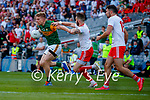 Tommy Walsh, Kerry, in action against Ronan McNamee, Tyrone, during the Senior football All Ireland Semi-Final between Kerry and Tyrone at Croke park on Saturday.