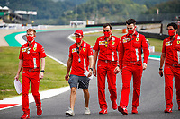 10th September 2020; Mugello race track, Scarperia e San Piero, Tuscany, Italy ; Formula 1 Grand Prix of Tuscany, arrival day;  Sebastian Vettel GER walks the track