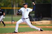 FCL Tigers West pitcher Rodolfo Fajardo (21) during a game against the FCL Yankees on July 31, 2021 at Tigertown in Lakeland, Florida.  (Mike Janes/Four Seam Images)