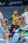 Mait Patrail (Rhein Neckar Löwen Nr.9) im Angriff - beim Bundesligaspiel: Rhein Neckar Loewen gegen SC DHfK Handball Leipzig am 15.10.2020 in der SAP-Arena in Mannheim<br /> <br /> Foto © PIX-Sportfotos *** Foto ist honorarpflichtig! *** Auf Anfrage in hoeherer Qualitaet/Aufloesung. Belegexemplar erbeten. Veroeffentlichung ausschliesslich fuer journalistisch-publizistische Zwecke. For editorial use only.