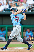 Josh Vitters of the  Tennessee Smokies during a game vs. the Jacksonville Suns July 10 2010 at Baseball Grounds of Jacksonville in Jacksonville, Florida. Photo By Scott Jontes/Four Seam Images